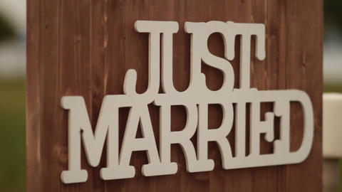 Just Married Footage