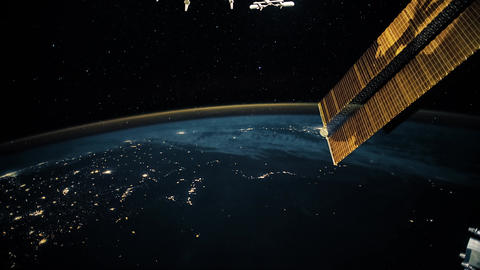 Planet Earth seen from the ISS. Beautiful Planet Earth observed from space. Nasa GIF