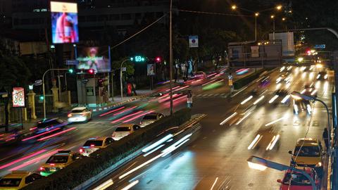 road traffic on urban roads Footage