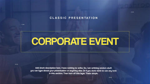 Corporate Event Premiere Pro Template