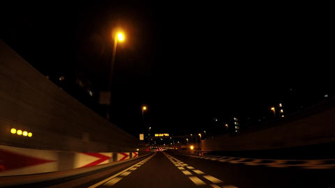 Traveling picture of Japan's highway on the night ライブ動画