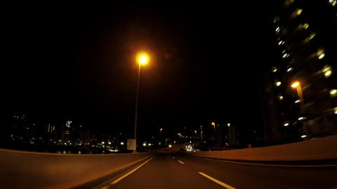 The way of Japan. Tokyo, highway on the night ビデオ