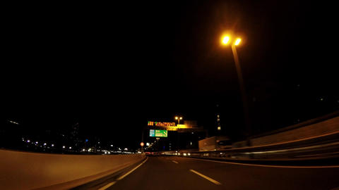 Traveling picture of Japan's highway on the night ビデオ