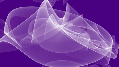 White abstract smoke element in tunnel motion on trendy purple background Animation