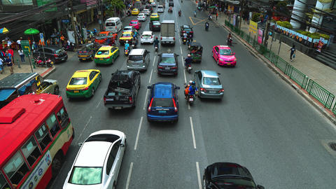 car traffic in the big city. traffic transport on the road. traffic jams Live Action