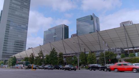 Scenery of Tokyo station Yaesu central gate ビデオ
