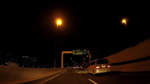 The way of Japan. Tokyo at night, the capital highway ビデオ