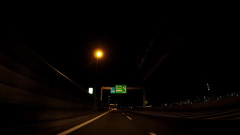 Road in Japan. Tokyo at night, the capital highway ビデオ