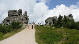 Karkonosze, Krkonose mountains. Trail from Szrenica mountain to Sniezne Kotly Footage