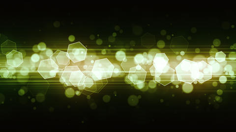 Green Fashion Light Glitters Animation