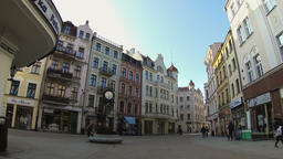 Medieval Town of Torun. Unesco heritage site in Poland Live Action