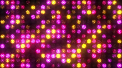 Flashing pink and yellow spotlights Footage