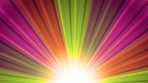 Warm Sunburst Rainbow Rays Animation