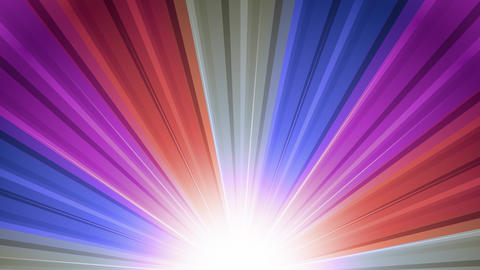 Cool Sunburst Rainbow Rays Animation