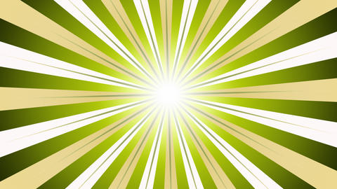 Bright Green Sunburst Animation