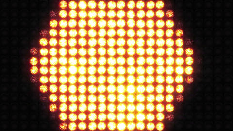 Lighting a wall of light using simple shapes Stock Video Footage
