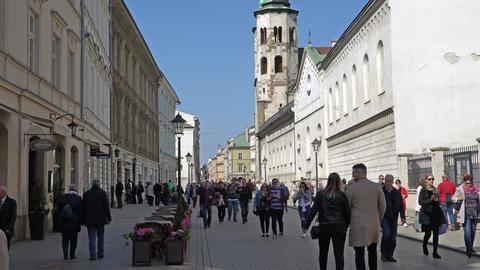 Krakow, Poland - Spring, 2018 Old Town of Krakow GIF