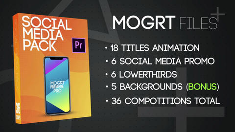 Social Media Pack MOGRT Motion Graphics Template