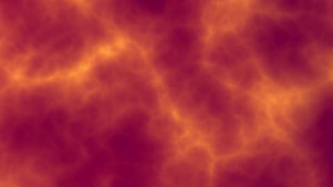 Plasma energy graceful flowing nebula background. 3d animation. Dark orange, red Animation