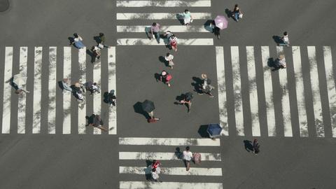 TimeLapse - Scramble crossing photographed in closeup ビデオ