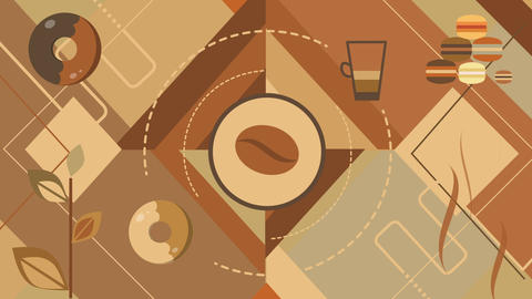 Coffee shape animation Footage