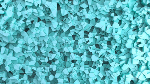 Blue fractured surface CG動画
