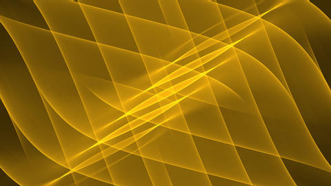 Luxurious golden abstract background with diagonal oriented wavy curves. Nice Animation