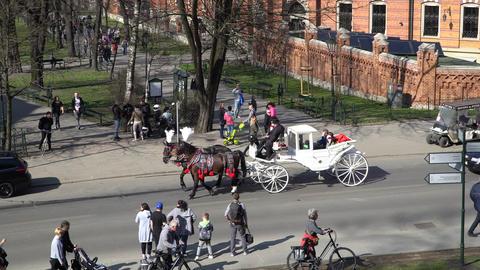 Krakow, Poland - Spring, 2018 Old Town of Krakow Footage