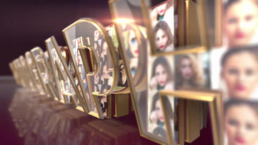 Elegant Logo Reveal glass and gold After Effects Template