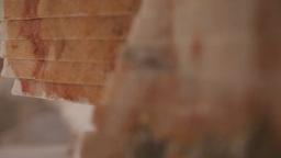 marble stone blocks stacked, slider shot Footage