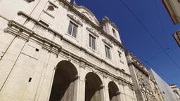 Church of St. Catherine located at Calçada do Combro Lisbon, steady cam Footage