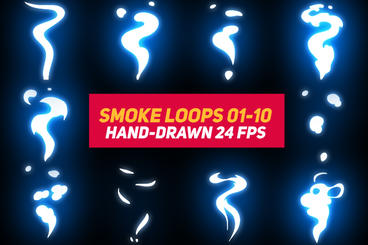 Liquid Elements 3 Smoke Loops 01-10 After Effects Template