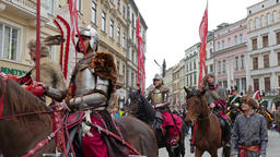 Krakow, Poland. Parade during National Constitution Day Live Action