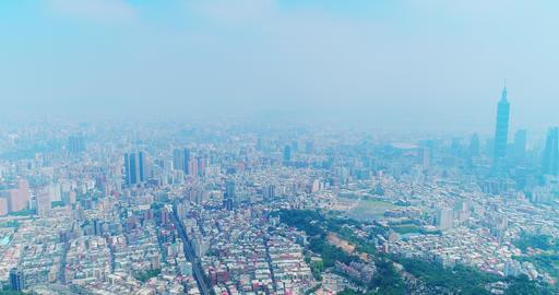 taipei city panorama in the taiwan Live影片