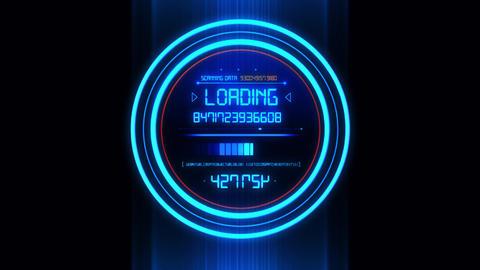 Blue HUD Data Loader Interface Loopable Graphic Element V2 Animation