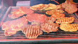 Grilled Meat, Barbecue, Unhealthy food Live Action