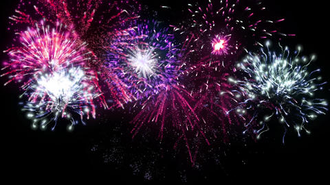 Fireworks Version 02 CG動画素材