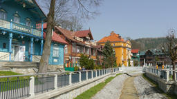 Krynica Zdroj the biggest spa town in Poland. Romanowka - Nikifor's Museum Live Action