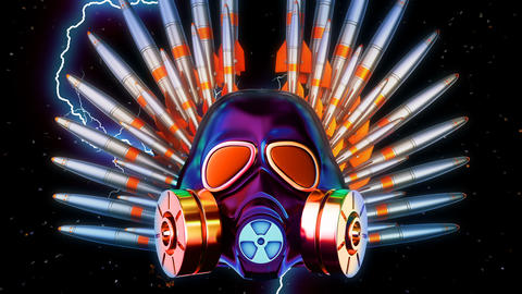Gas Mask And Missiles VJ Loop GIF