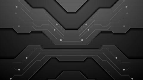 Black circuit board technology video animation Animation