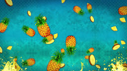 Pinapple Background Loop CG動画素材
