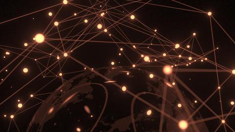 Global orbital network near Earth, conceptual animation Footage