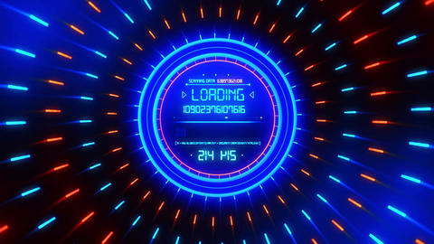 Blue Data Loader Loopable Motion Graphic Background Animation