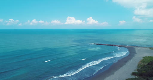 aerial shot of tainan coastline Live影片