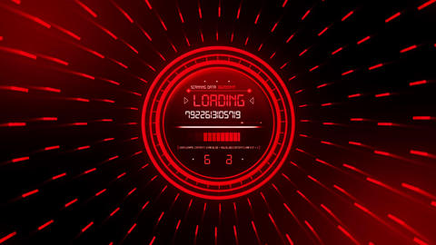 Red Data Loader Loopable Motion Graphic Background Animation
