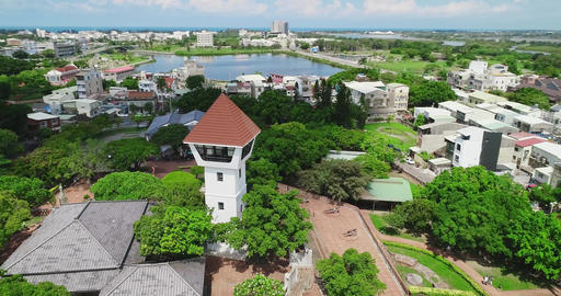aerial shot of Anping Fort Live影片