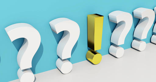 Concept to search and find an answer to a question. 3d rendering Animation