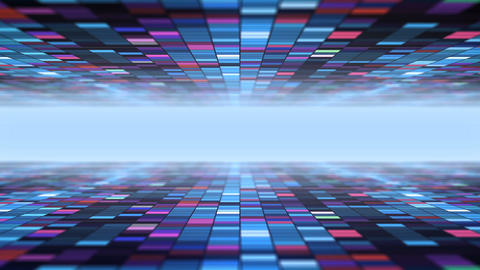 Dark Science Fiction Bricks Blocks Background Footage
