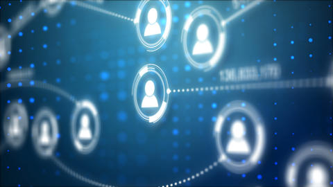 Circle shape people icon and connection line for social network cyber futuristic GIF