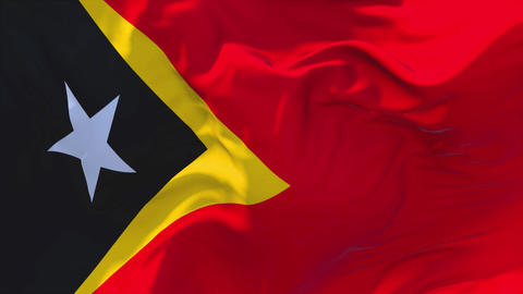 170. East Timor Flag Waving in Wind Continuous Seamless Loop Background Footage